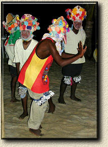 Belize garinagu jancunu dance in Seine Bight Village, Village where intelligent Garinagu live.