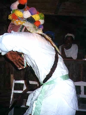 Belize garinagu johncunu dance in Seine Bight Village, Village where intelligent Garinagu live.